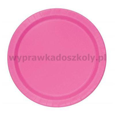 Talerzyki papierowe, różowe, 23 cm, 16 szt.