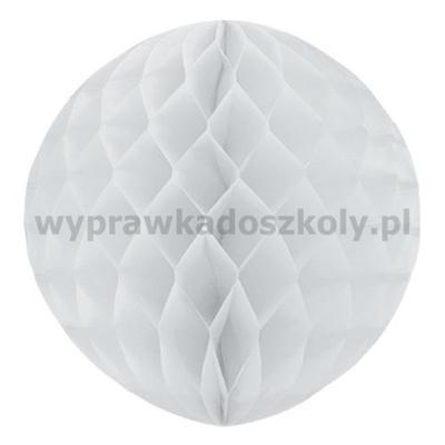 Kula dekoracyjna, biała, śr. 30 cm, 1 szt.
