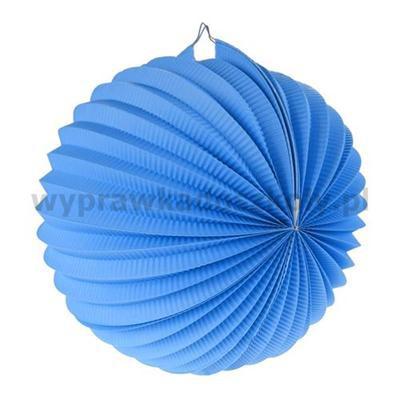 """Lampion dekoracyjny """"Kula"""", niebieski, śr. 25 cm"""