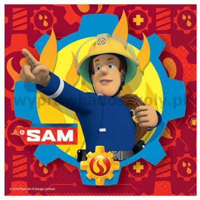 "Serwetki ""Strażak Sam"", AMSCAN, 33 cm, 20 szt-32900"