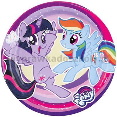 """Talerzyki papierowe """"My Little Pony"""", 18 cm, 8 szt-32902"""