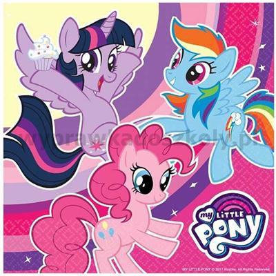 """Serwetki """"My Little Pony"""", 33 cm, AMSCAN, 20 szt-32904"""