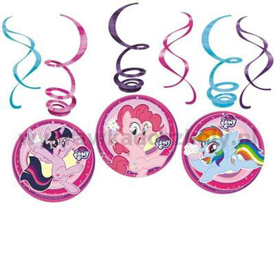 """Świderki wiszące """"My Little Pony"""", AMSCAN, 6 szt-32905"""