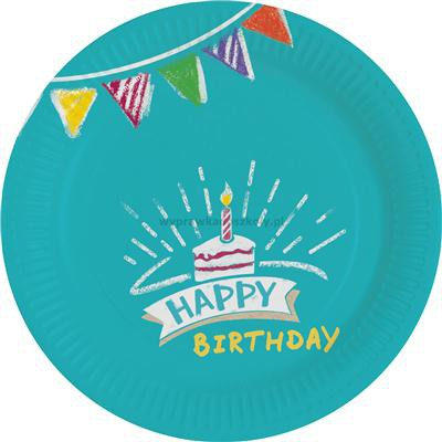 TALERZYKI DEKORACYJNE 18CM MY BIRTHDAY PARTY 18CM-32922