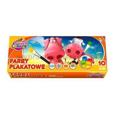Farby plakatowe 10kol 20ml Sweet Colours OTOCKI-32942