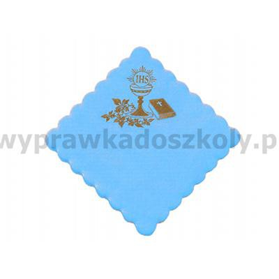 SERWETKA KOMUNIA JASNO NIEBIESKA 15x15 100SZT-32995
