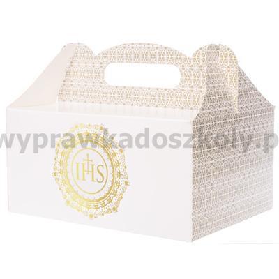 Pudełko na ciasto ornament 19 x 14 x 9 cm, 10 szt.-32997