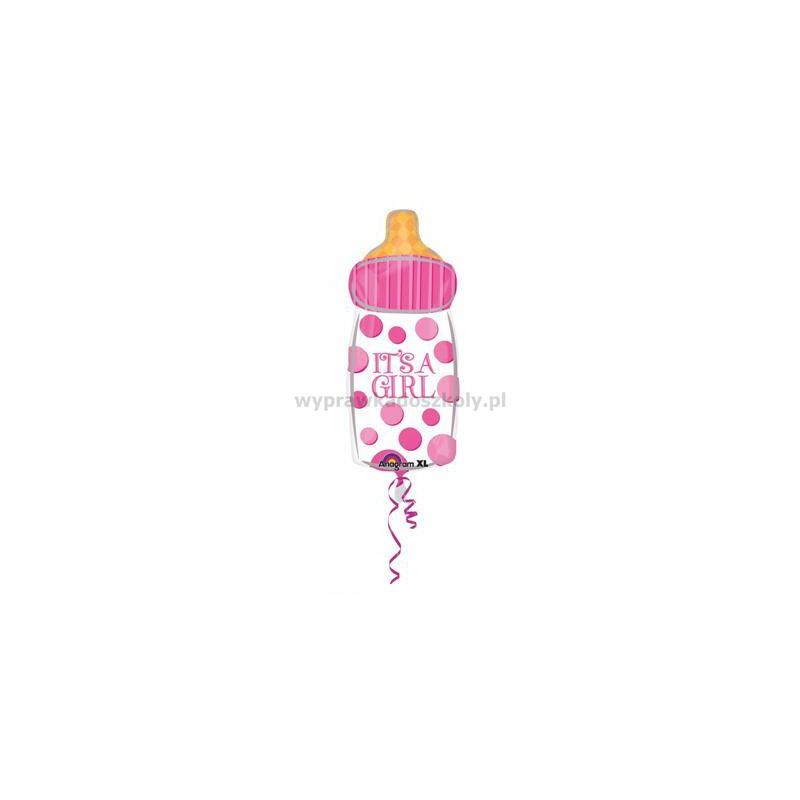 Balon foliowy butelka dziewczynka babyshower-33548