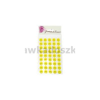 Uśmiechy żółte przyklejki 11rz x 6szt 12mm