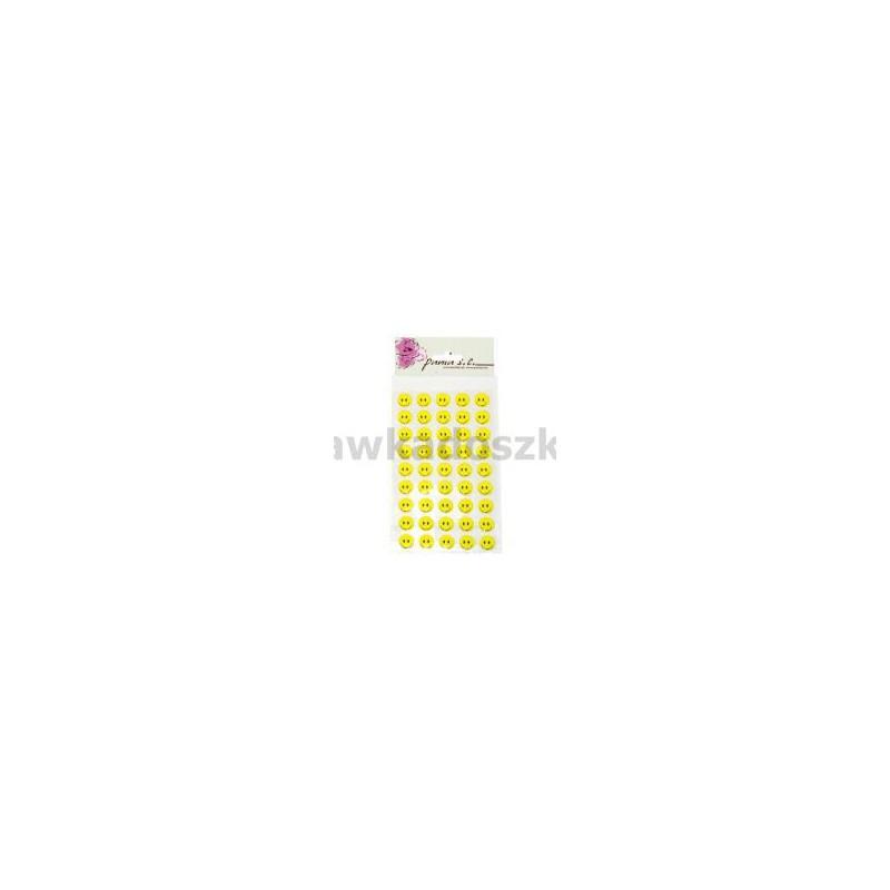 Uśmiechy żółte przyklejki 11rz x 6szt 12mm-33347