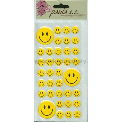 Uśmiechy żółte przykl. mix 36szt 1,5cm do 3,5cm