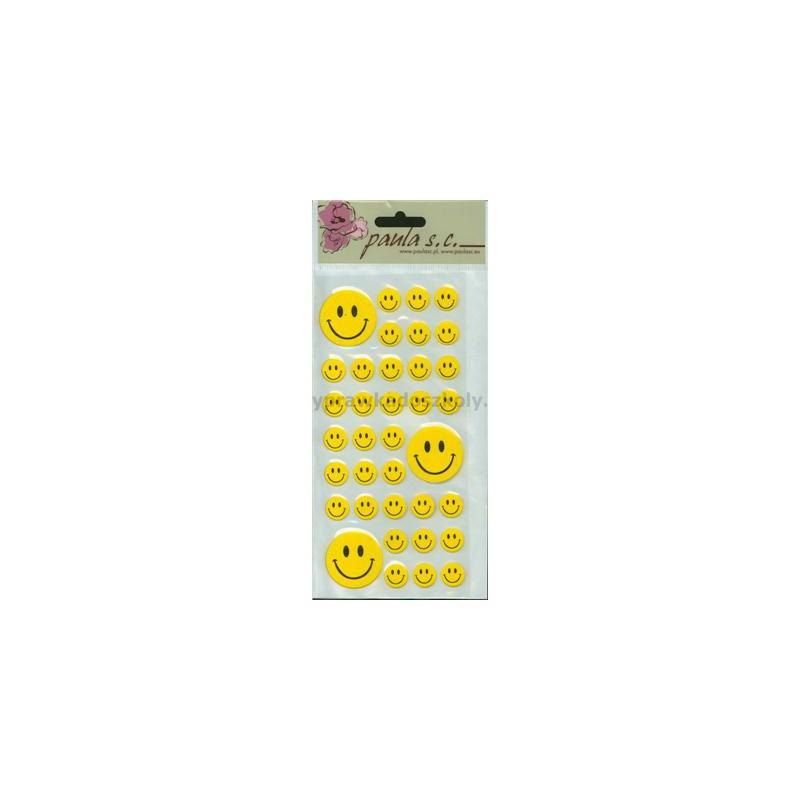Uśmiechy żółte przykl. mix 36szt 1,5cm do 3,5cm-33350